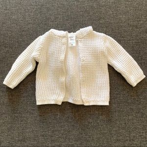Baby girl sweater jacket